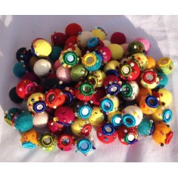 1000 PIECE 2CM MIRRORED FELT BALL
