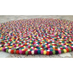 150cm Multicolored felt ball rug