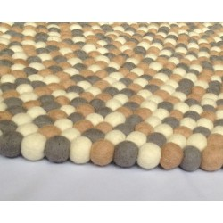 120cm superb felt ball rug